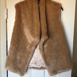 NWOT Loft Fur Vest size M/L
